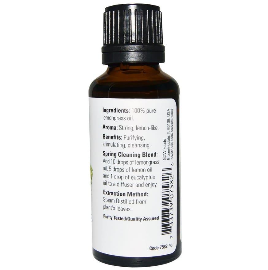 Now Foods-Lemongrass essenrial oil-30ml